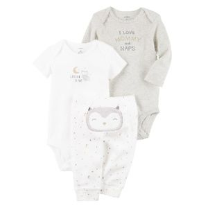 Carter's - 3 Piece Little owl Set